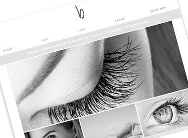 B-Wax Lash Brow Website